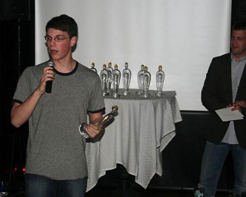 Leo Koorhan Accepting Chester Award